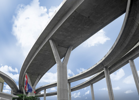The curve of elevated expressway, Thailand. photo