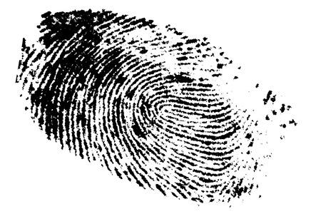 Fingerprint on white background, digital retouch  免版税图像