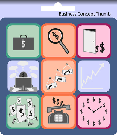 success business: Success business finance concept thumb  Illustration