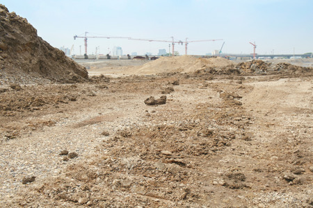 Access road to construction zone. Stock Photo