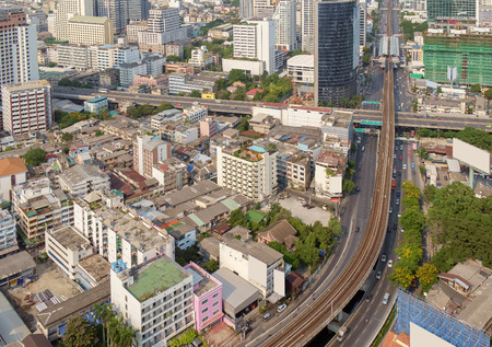 silom: View of capital Bangkok in Thailand
