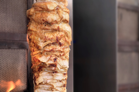 kabab: Grilled meat Kebab (also called kebap, kabab and kabob) traditional Middle East food.