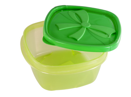 lunch tray: Plastic container on white background.