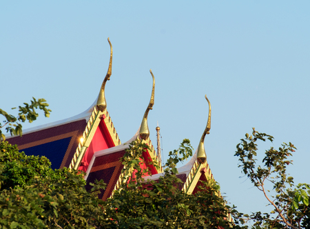 apex: Gable apex on the roof of thai temple.