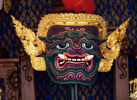 khon: Hua Khon, Mask characters of Ramayana. Thailand Tourism Festival Annual Folk Art, Lumpini Park, Bangkok, Thailand.