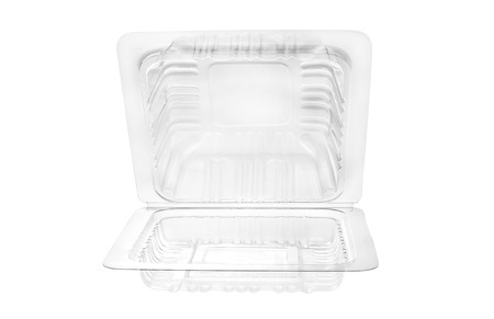container box: Plastic food container on white background.
