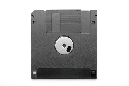 Floppy disk or diskette on white background. Stock Photo