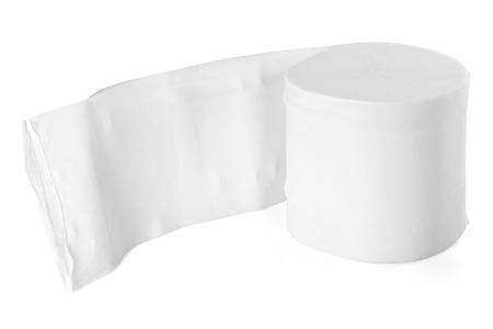 hankie: Tissue paper roll on white background.