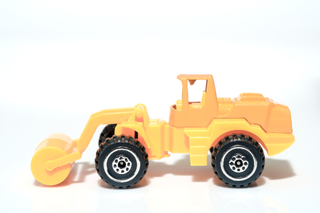 steamroller: View of steamroller toy on white background.