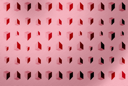 Abstract background of geometric on pink background. Stock Photo