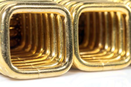 bucle: acero bucle de oro del primer. Foto de archivo
