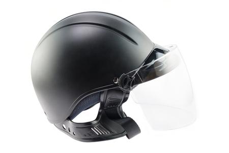 road bike: Black helmet on white background.