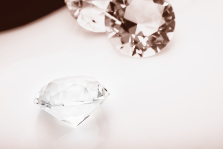 View of diamond on the table.