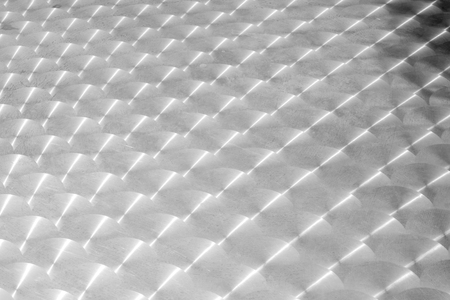 Abstract blur background of stainless table. Banco de Imagens