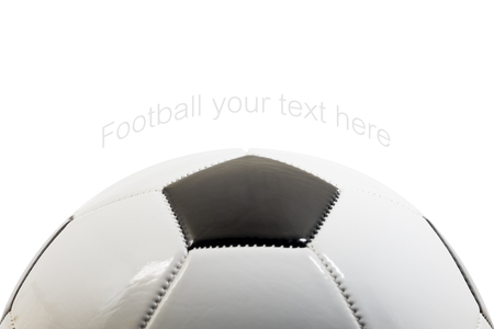 Foot ball on white background with copy space. Stok Fotoğraf
