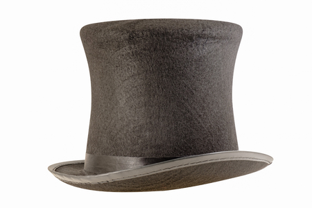 Magician hat on white background.