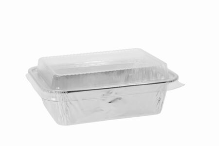 Food container on white background. 免版税图像