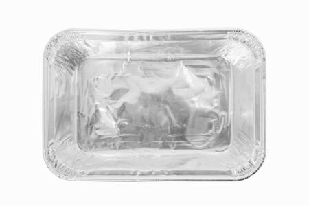 Food container on white background. Top view.