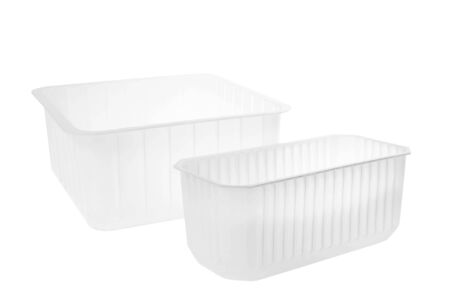 Plastic container on white background. 免版税图像 - 146528374