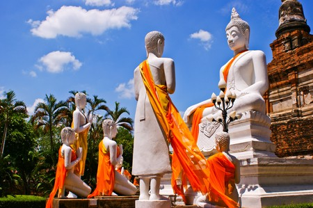 buddha statue in ayutthaya ...