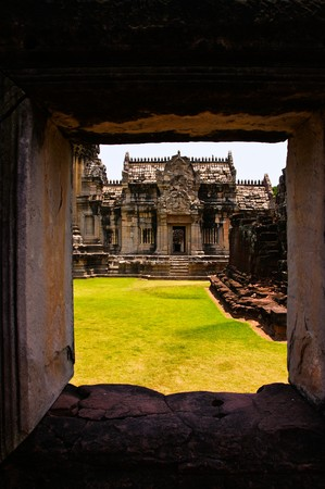 Pranom Rung Stone Clastle,ancient ruins of temple in Thailand