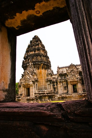 Pimine Stone Clastle,ancient ruins of temple in Thailand