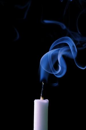 candle with smoke Stock Photo - 9955635