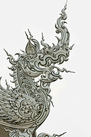 Dragon in traditional Thai style molding art