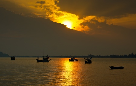 Fishing boats in Thailand photo
