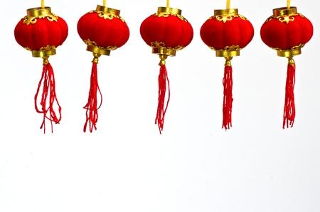 red lantern: Red Paper Chinese Lantern to Celebrate Chinese New Year