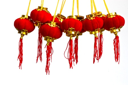 Red Paper Chinese Lantern to Celebrate Chinese New Year Stock Photo - 9228797