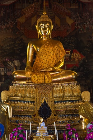 Buddha statue in  the temple, Thailand