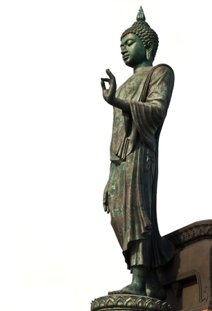 buddha statue isolated on white. Stock Photo