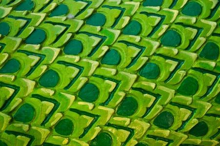 Texture art thai style on the temple wall  photo