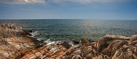 Shoreline and beach rock formation