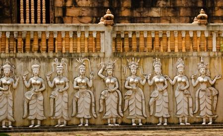Apsara sculpture