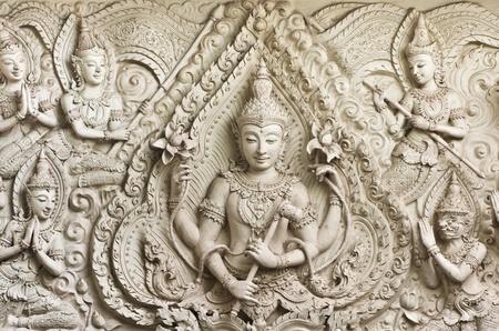 Buddha statue in Thai style molding art ,Thailand