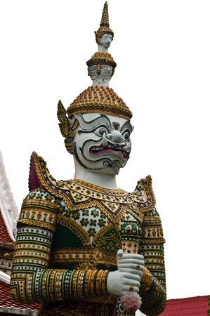 Guardian Statues at Wat Arun in Bangkok,Thailand  photo