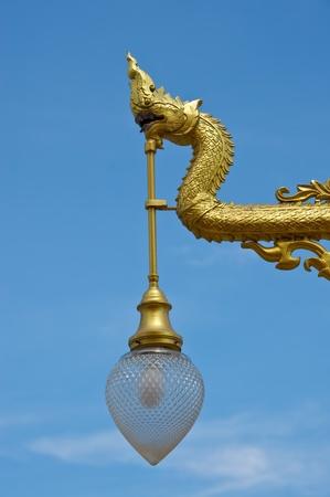 Thai street lamp Stock Photo