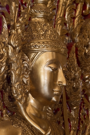 Golden buddha statue at Wat Thasung temple,Thailand  photo