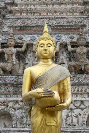 Golden Buddha statue in Thailand  Stock Photo
