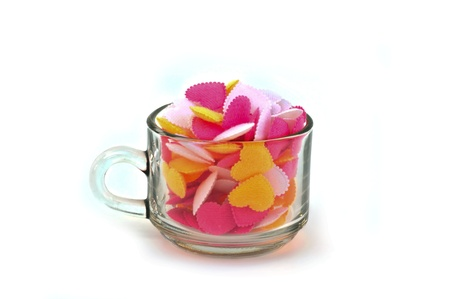 hearts  in cup Stock Photo