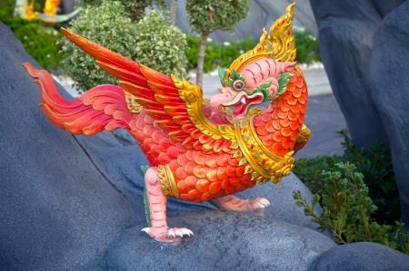 Thai style sculpture art, fairy tale animal  photo