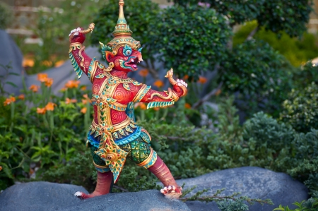 Thai style sculpture art, fairy tale animal  Stock Photo - 17008022