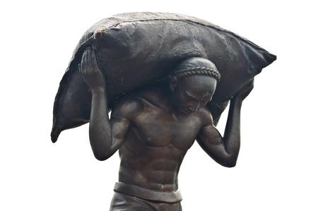 overburden: Chinese statue