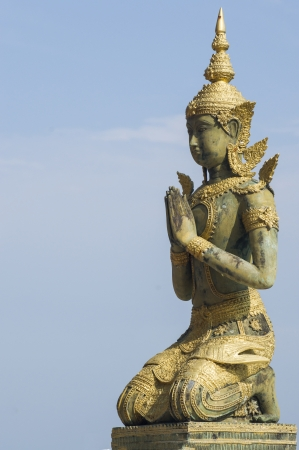 Statue of angel at the temple in Thailand.