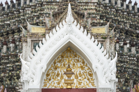 thai motifs:  Thai style pattern design at The temple of dawn in Thailand Stock Photo