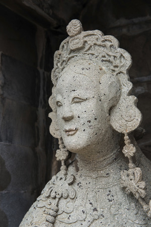 Sculpture of the beautiful ancient Chinese women Stock Photo