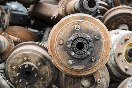 Useless,rusty brake discs and other parts