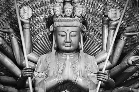 goddess of mercy: Quan Yin statue - Buddhist Goddess of mercy .